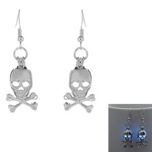Halloween Glow In The Dark Skull Earrings